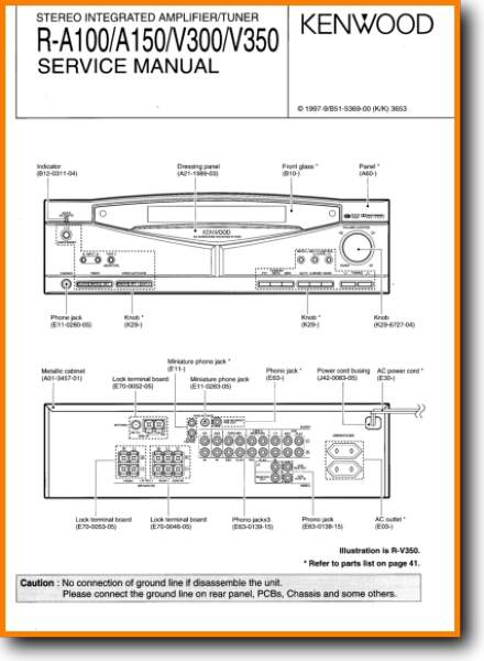 Kenwood RV-300 Solid State Amp Receiver - On Demand PDF Download | on