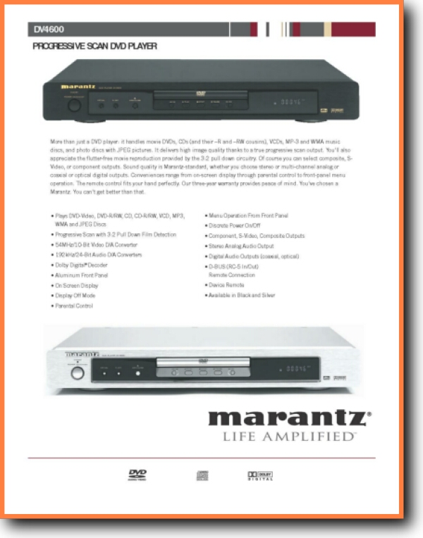 Marantz Dv 4600 Dvd Player On Demand Pdf Download English Addendumb