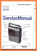 Philips 22-AR-070 Portable Stereo Main Technical Manual - PDF & Tech Help* | English