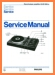 Philips AF-400 Turntable Record Player Main Technical Manual - PDF & Tech Help* | English