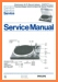 Philips AF-677 Turntable Record Player Main Technical Manual - PDF & Tech Help* | English