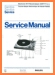 Philips AF-777 Turntable Record Player Main Technical Manual - PDF & Tech Help* | English