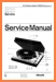 Philips GA-312 Turntable Record Player Main Technical Manual - PDF & Tech Help* | English