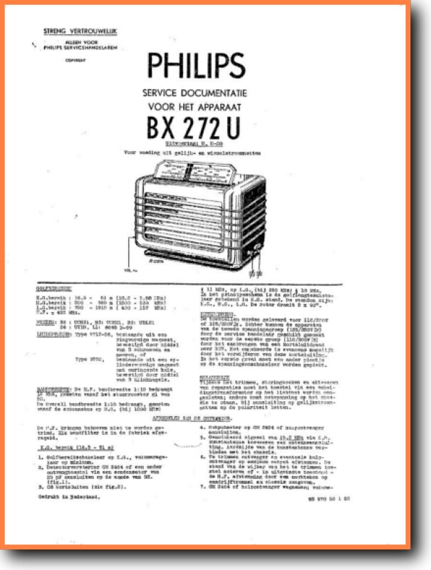 Philips Bx 272 U Legacy Radio On Demand Pdf Download