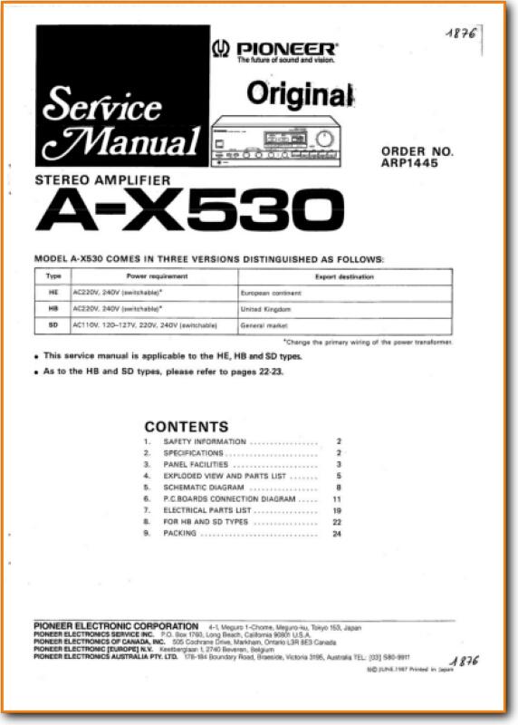 AX 530______________ S EN1 921 PIO pioneer ax 530 solid state amp receiver on demand pdf download honda pioneer 1000 parts diagram at gsmx.co