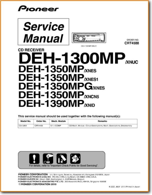 pioneer deh1300mp automotive audio  on demand pdf download  english