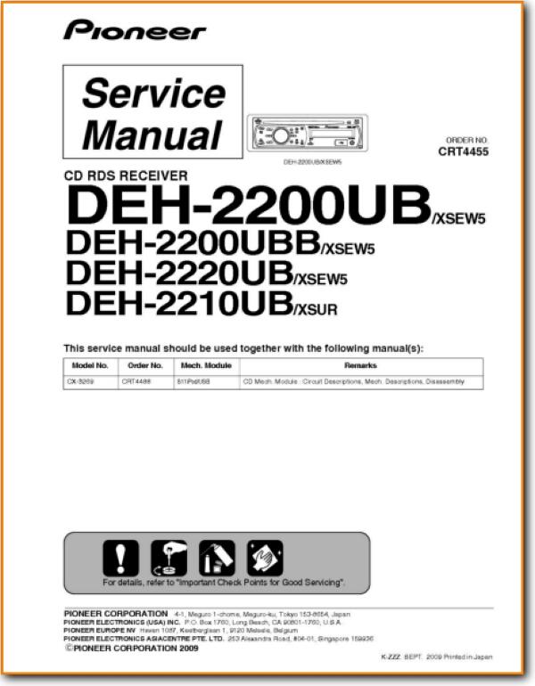Pioneer Deh 2200 Ub Automotive Audio