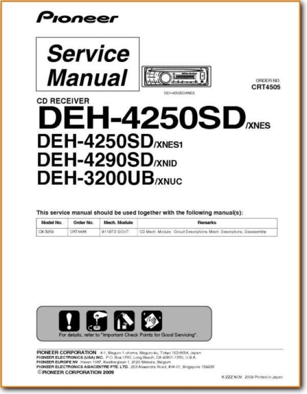 Pioneer Deh 3200 Wiring Diagram