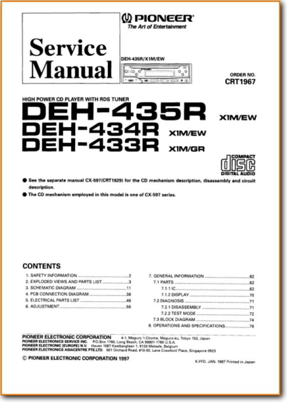 Pioneer Deh 435 Wiring Diagram