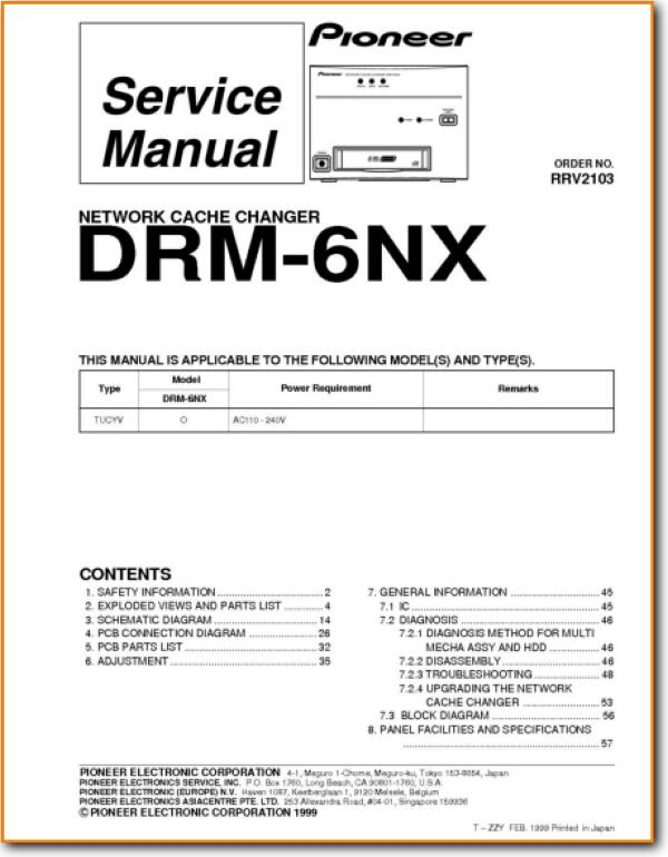 Pioneer DRM-6-NX CD Player - On Demand PDF Download | English