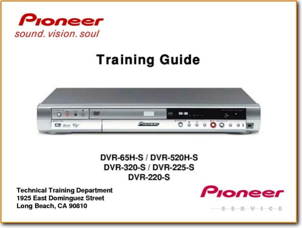 pioneer dvr 220 s training dvd player on demand pdf download english rh turntableneedles com IC Realtime DVR H 264 DVR System Manuals