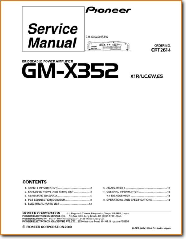 Pioneer GMX-352 Automotive Audio - On Demand PDF Download | English