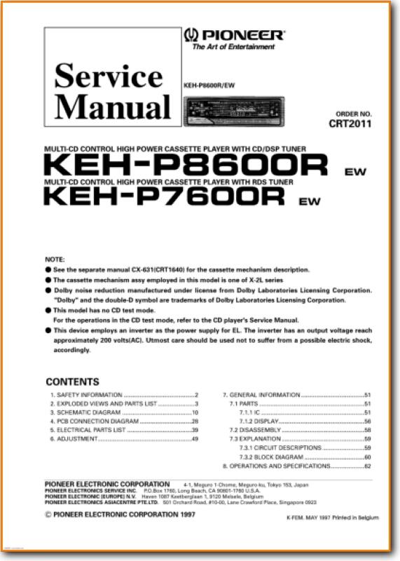 Pioneer KEHP-8600-R Automotive Audio - On Demand PDF Download | English