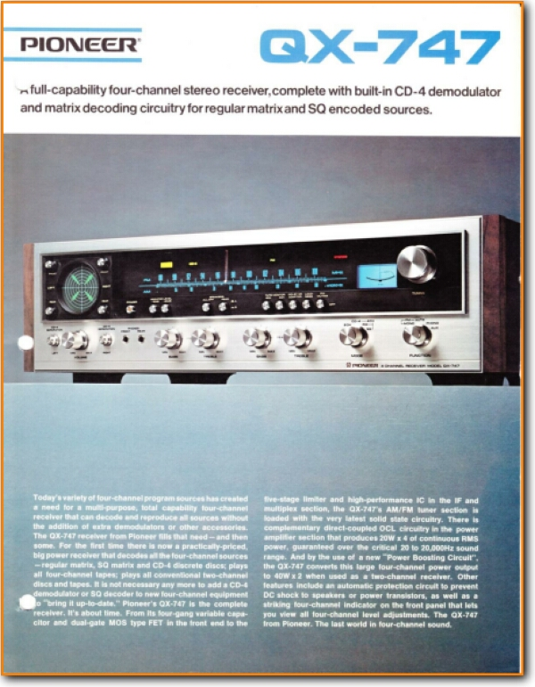 Pioneer Qx 747 Solid State Amp Receiver On Demand Pdf