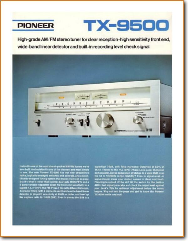 Pioneer TX-9500 Tuner - On Demand PDF Download | English