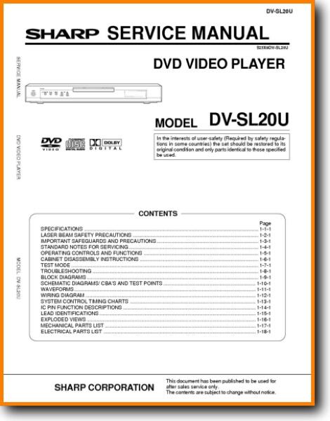 Sharp DVSL 20 U DVD Player On Demand PDF Download English