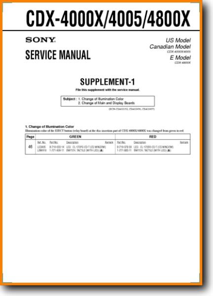 Sony CDX-4000-X Automotive Audio - On Demand PDF Download ...  Turntable Needles