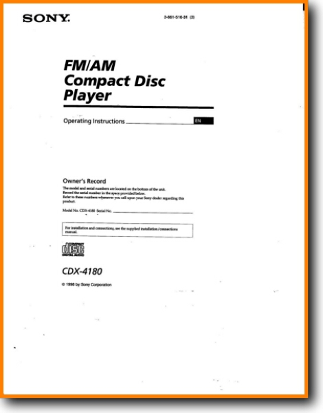 Sony Cdx 4180 Automotive Audio On