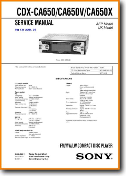 sony cdxca650x automotive audio  on demand pdf download  english
