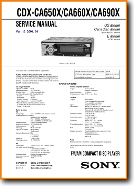 sony cdxca660x automotive audio  on demand pdf download
