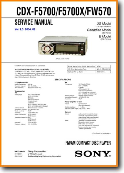 Sony Cdx Fw570 Wiring Diagram