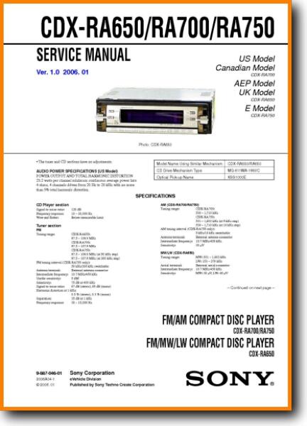 sony cdxra700 automotive audio  on demand pdf download  english