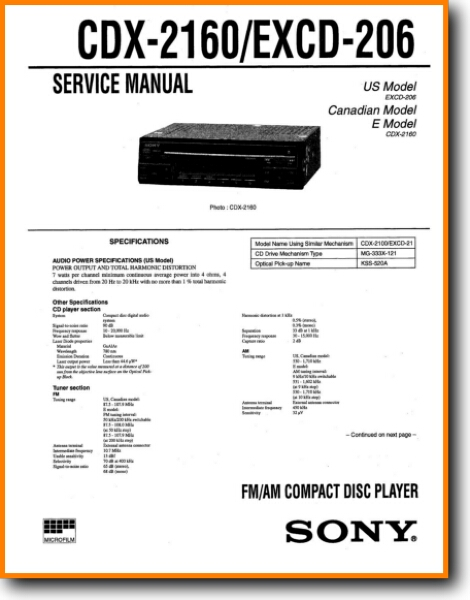 sony cd player wiring diagram sony excd 206 cd player on demand pdf download english  sony excd 206 cd player on demand pdf
