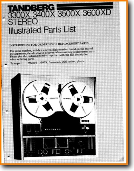 Tanberg 3300-X Tape Player Addendum - B Technical Manual - PDF & Tech Help*  | English