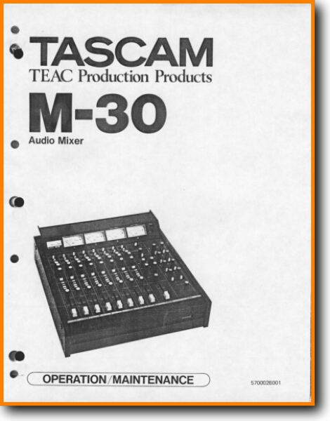Tascam M-30 Solid State Amp Receiver - On Demand PDF Download   English