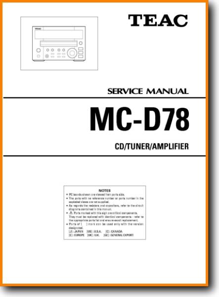 Teac MCD-78 Mini Shelf System - On Demand PDF Download | English