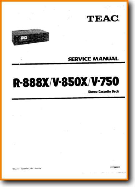 Teac V-750 Tape Player - On Demand PDF Download | English