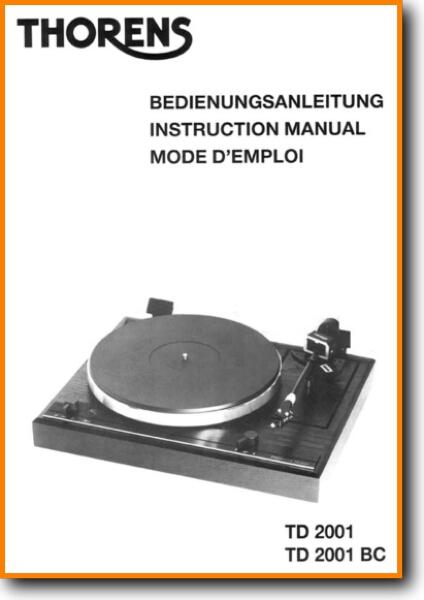 service manual thorens td 2001