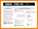 Yamaha KMS-301 Loudspeaker Main User Book - PDF & Tech Help* | English