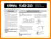 Yamaha KMS-305 Loudspeaker Main User Book - PDF & Tech Help* | English