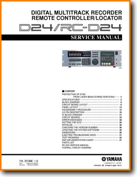 Yamaha RCD-24 Digital Player Recorder - On Demand PDF Download | English