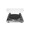 audio-technica AT-LP60X-GM Automatic Belt-Drive Black Turntable | Analog