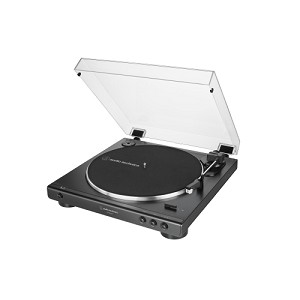 audio-technica AT-LP60XUSB-BK Automatic Belt-Drive Black Turntable | USB + Analog