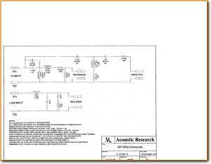 Acoustic Research; AR AR-303-A Loudspeaker Main Schematics - PDF & Tech Help* | English