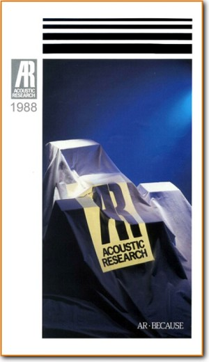 Acoustic Research; AR Catalog-1988 Loudspeaker Main Brochure - PDF & Tech Help* | English