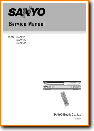 Sanyo HVDX-3-EV DVD Player Main Technical Manual - PDF & Tech Help* | English