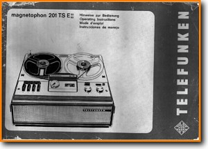 Telefunken 201-TSE Tape Player Main User Book - PDF & Tech Help* | German