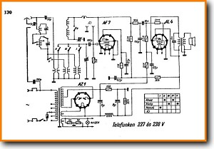 Telefunken 238-V Legacy Radio Main Schematics - PDF & Tech Help* | English