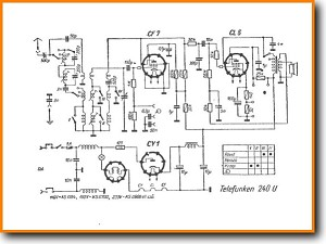 Telefunken 240-U Legacy Radio Main Schematics - PDF & Tech Help* | English