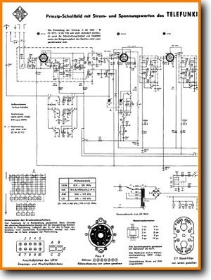 Telefunken Concertino-8 Legacy Radio Main Schematics - PDF & Tech Help* | English