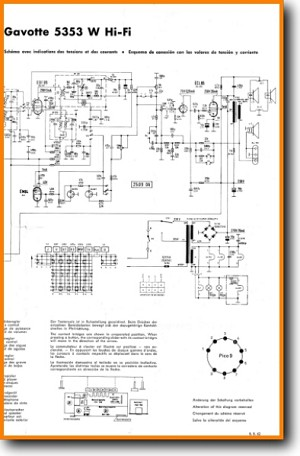 Telefunken GAVOTTE-5353-W Tube Amplifier Main Schematics - PDF & Tech Help* | English