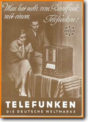 Telefunken Prospekt-1933 Legacy Radio Main Brochure - PDF & Tech Help* | German