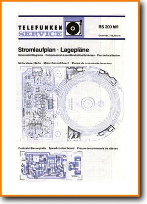 Telefunken RS-200 Turntable Record Player Main Technical Manual - PDF & Tech Help* | German