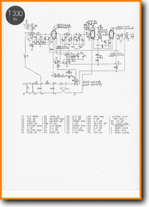 Telefunken T-330-GL Legacy Radio Main Schematics - PDF & Tech Help* | English