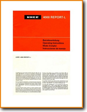 Uher 4000 Report L Tape Player Main User Book - PDF & Tech Help* | English