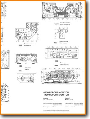 Uher 4400 Report Tape Player Main Schematics - PDF & Tech Help* | English